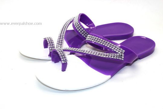 Jelly Shoes Diamond Strap Sandals